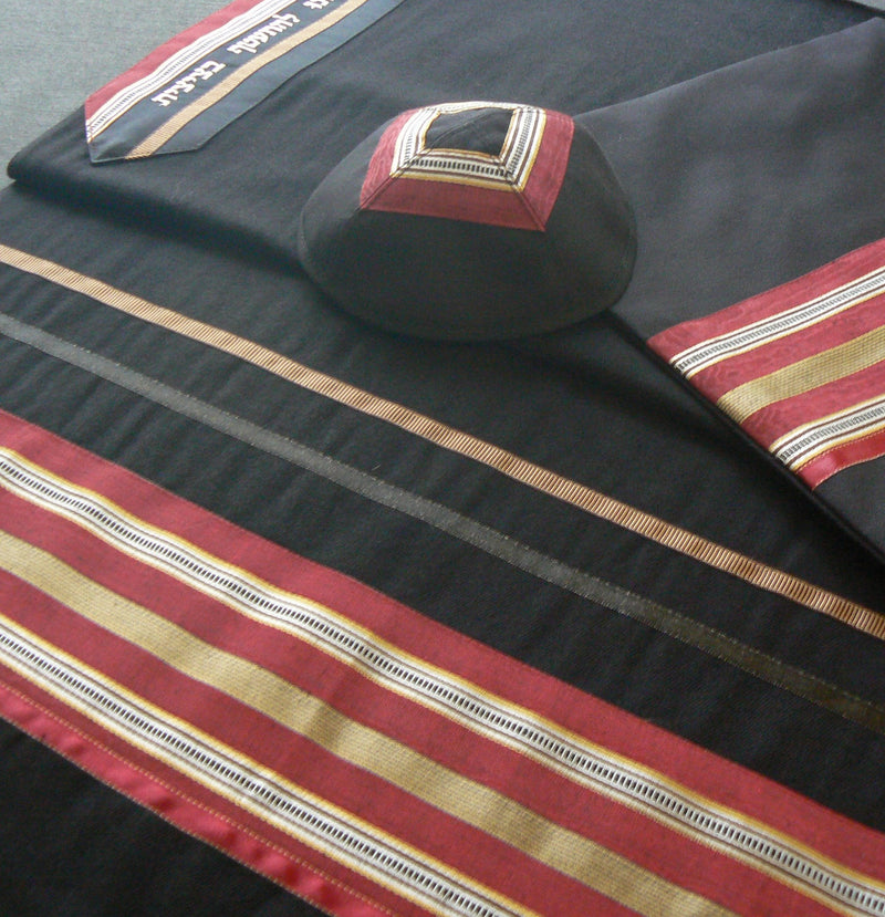 Men's Wool Tallit by Eretz Judaica