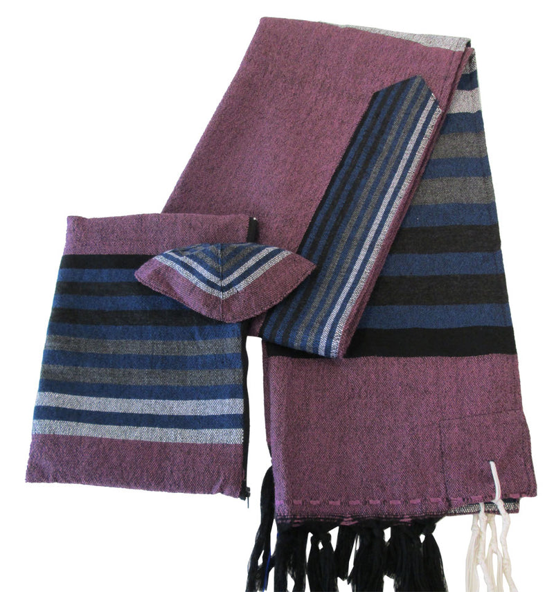 Tallit in Wool - Lavender by Gabrieli