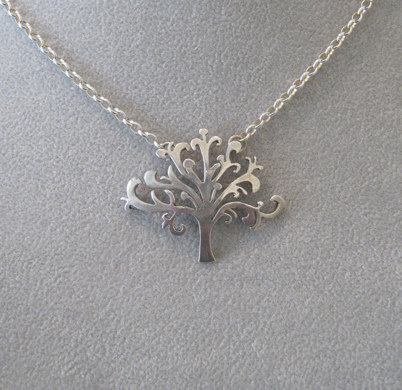 Tree of Life Necklace in Sterling Silver by Aimee Golant