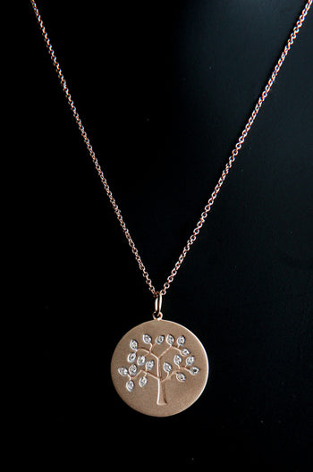 Diamond Tree of Life - Rose Gold by Robin Terman