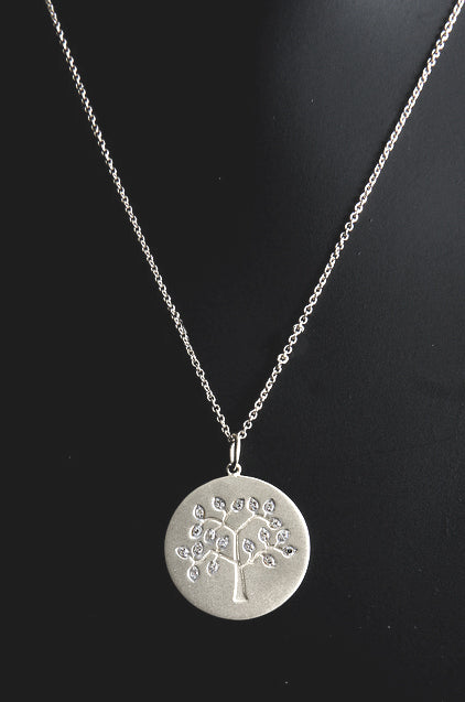 Diamond Tree of Life - White Gold by Robin Terman