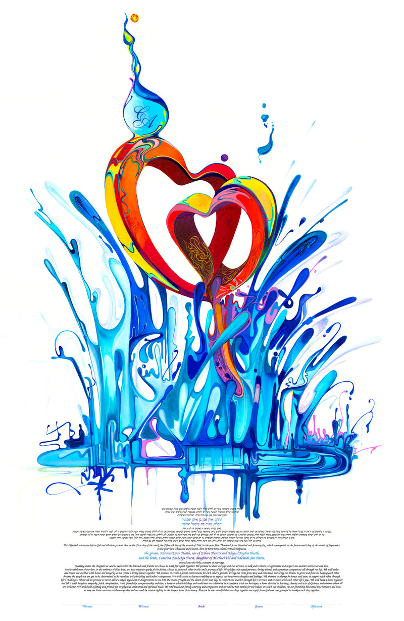 Two Hearts Beat As One Ketubah