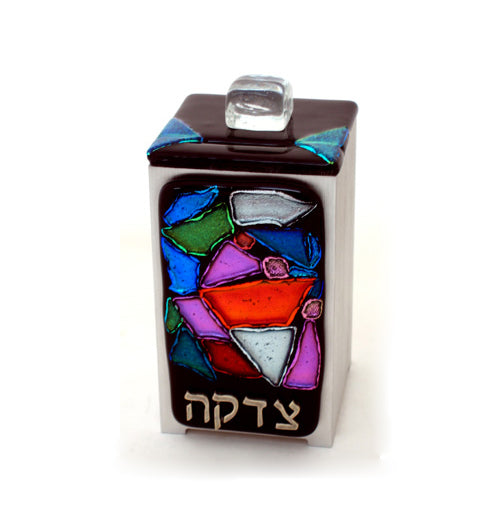Tzedakah Box Black#570 by Tamara Baskin