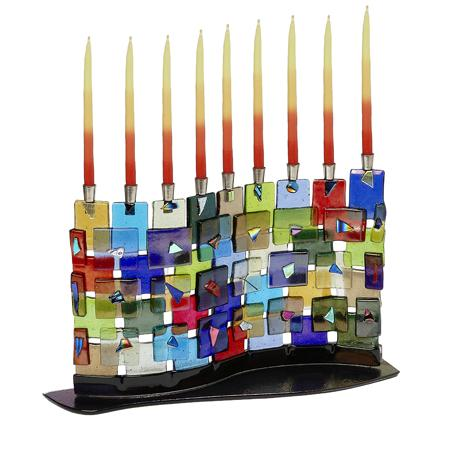 Chanukah Menorah The Wall #334 by Tamara Baskin