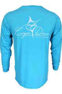 Men's Classic Performance Ocean Blue - Carpe Diem Fishing Apparel
