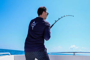 Hydrophobic Performance Navy - Carpe Diem Fishing Apparel