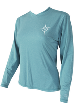 Ladies V neck Teal - Carpe Diem Fishing Apparel