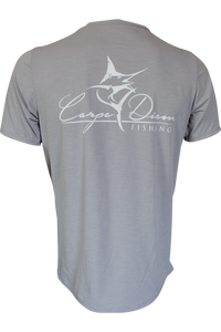 Men's Classic Performance Short Sleeve Light Grey - Carpe Diem Fishing Apparel
