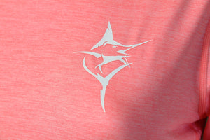 Ladies V neck Pink - Carpe Diem Fishing Apparel