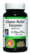 Natural Factors Gluten Relief Enzymes Veg-Capsules, 90-Count