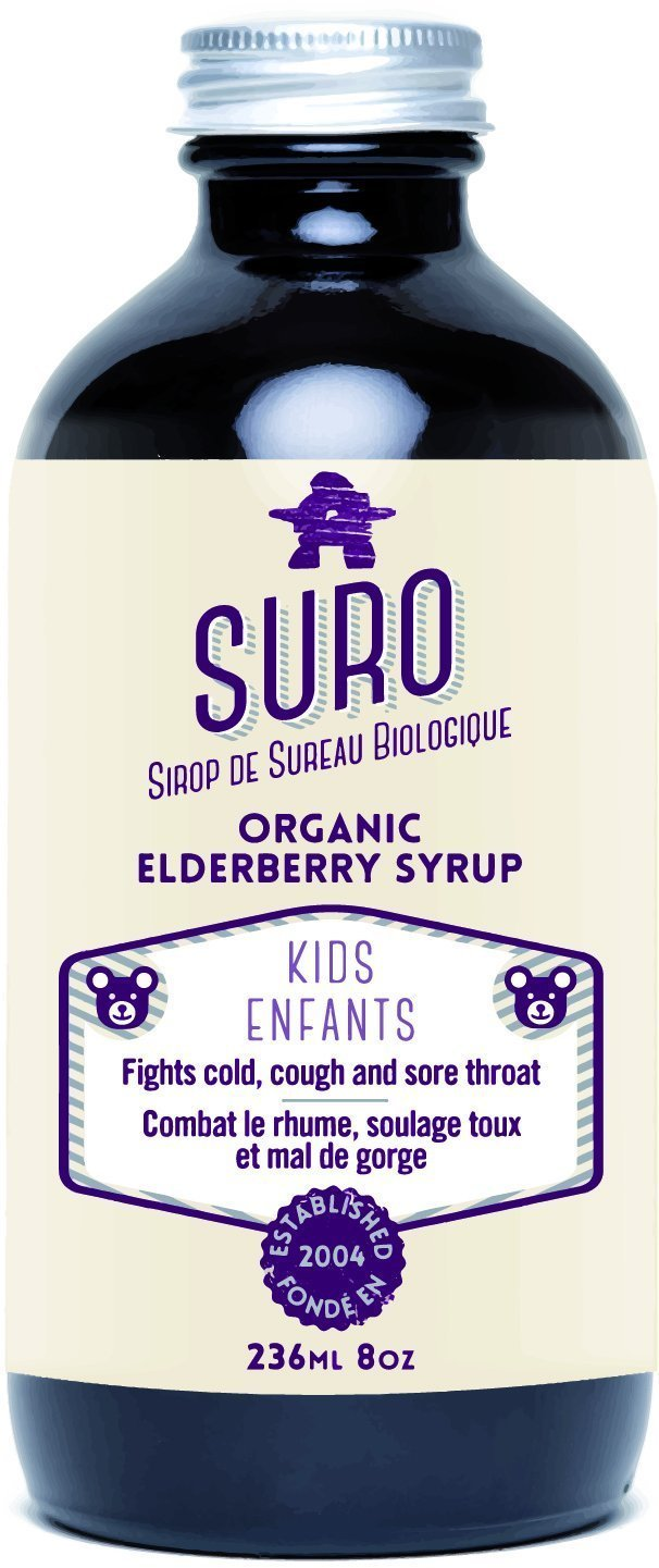 SURO organic elderberry syrup for kids, 236 Milliliter