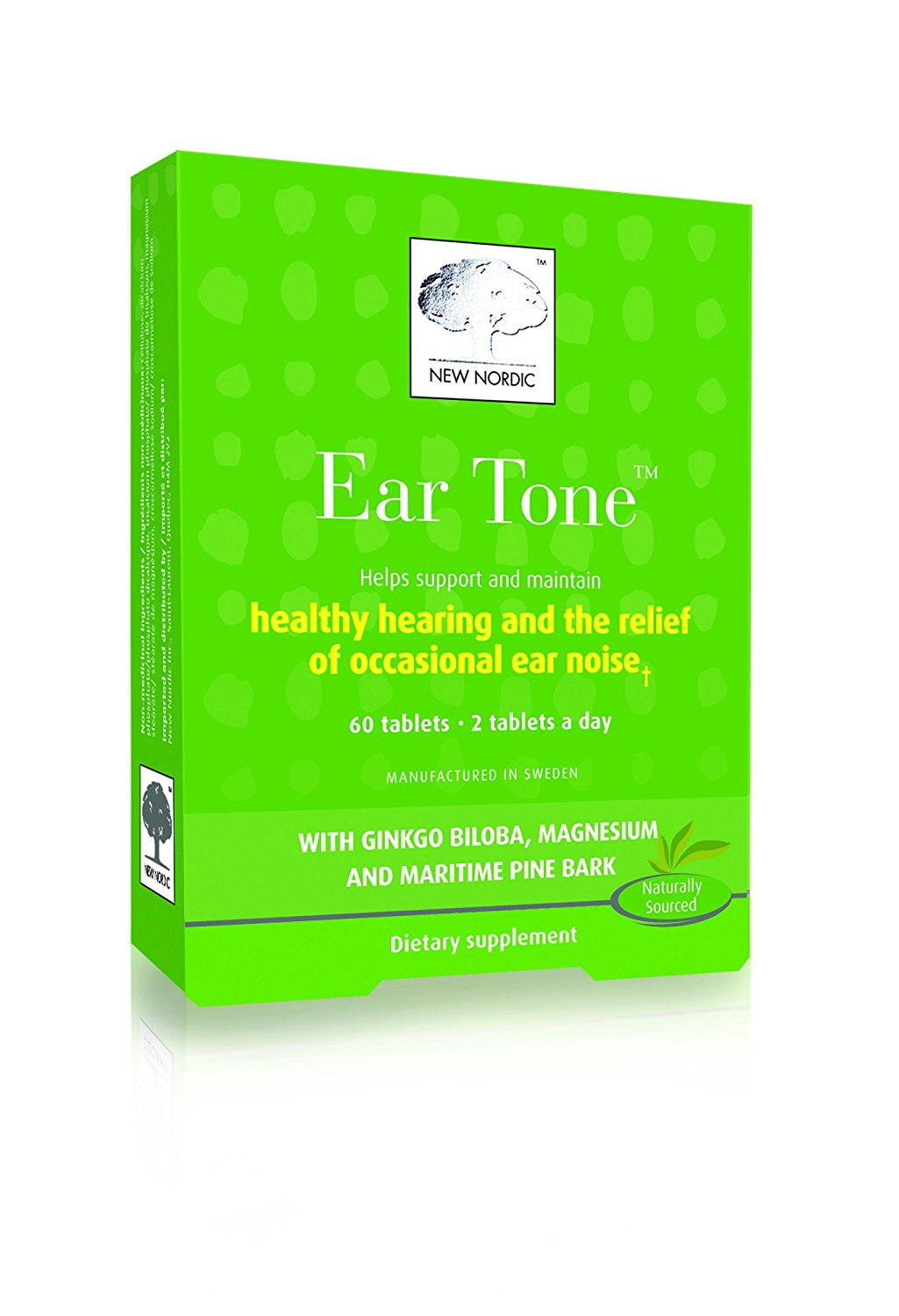 New Nordic Inc Ear Tone Plus 60 Tablets, 82gm