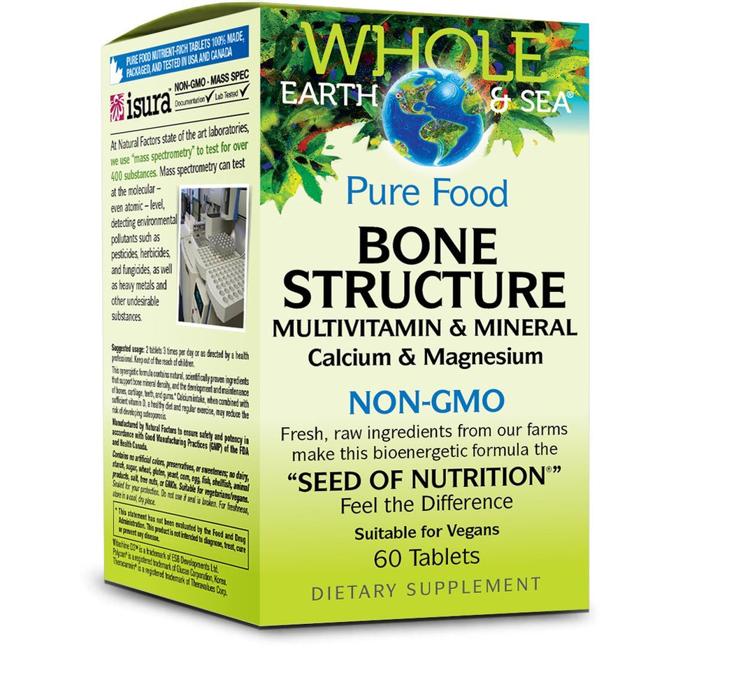 Whole Earth & Sea Pure Food Bone Structure, 60 Softgels