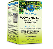 Multivitamines et minéraux- Femme - Whole Earth & Sea women's 50 + / 60 tablets