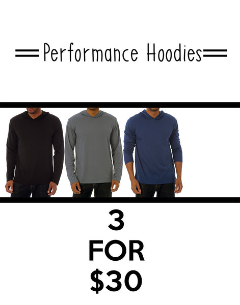 PACK OF 3 PERFORMANCE HOODIES - Stoopid Deals