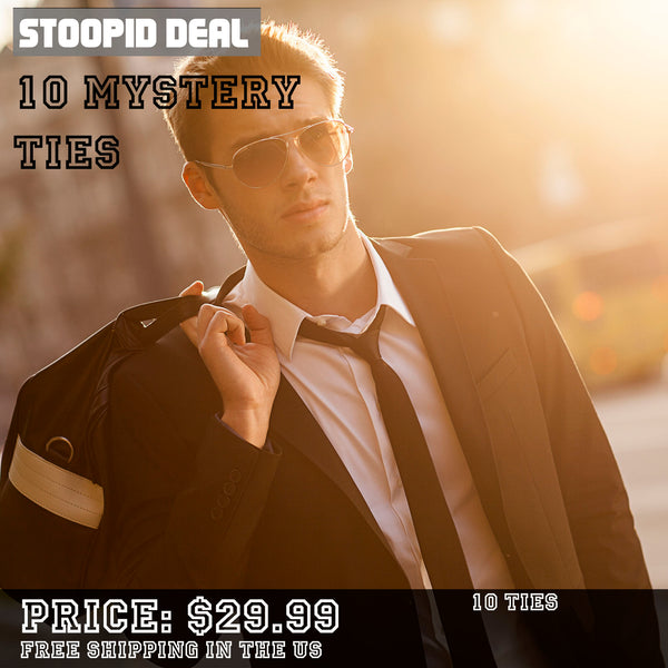 Mystery Set of 10 Regular Ties - Stoopid Deals