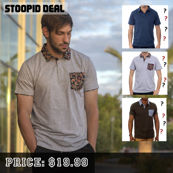3 Random Polo Shirts - Stoopid Deals