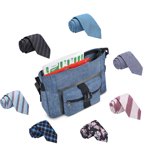 Charging Messenger Bag + 6 Random Ties - Stoopid Deals