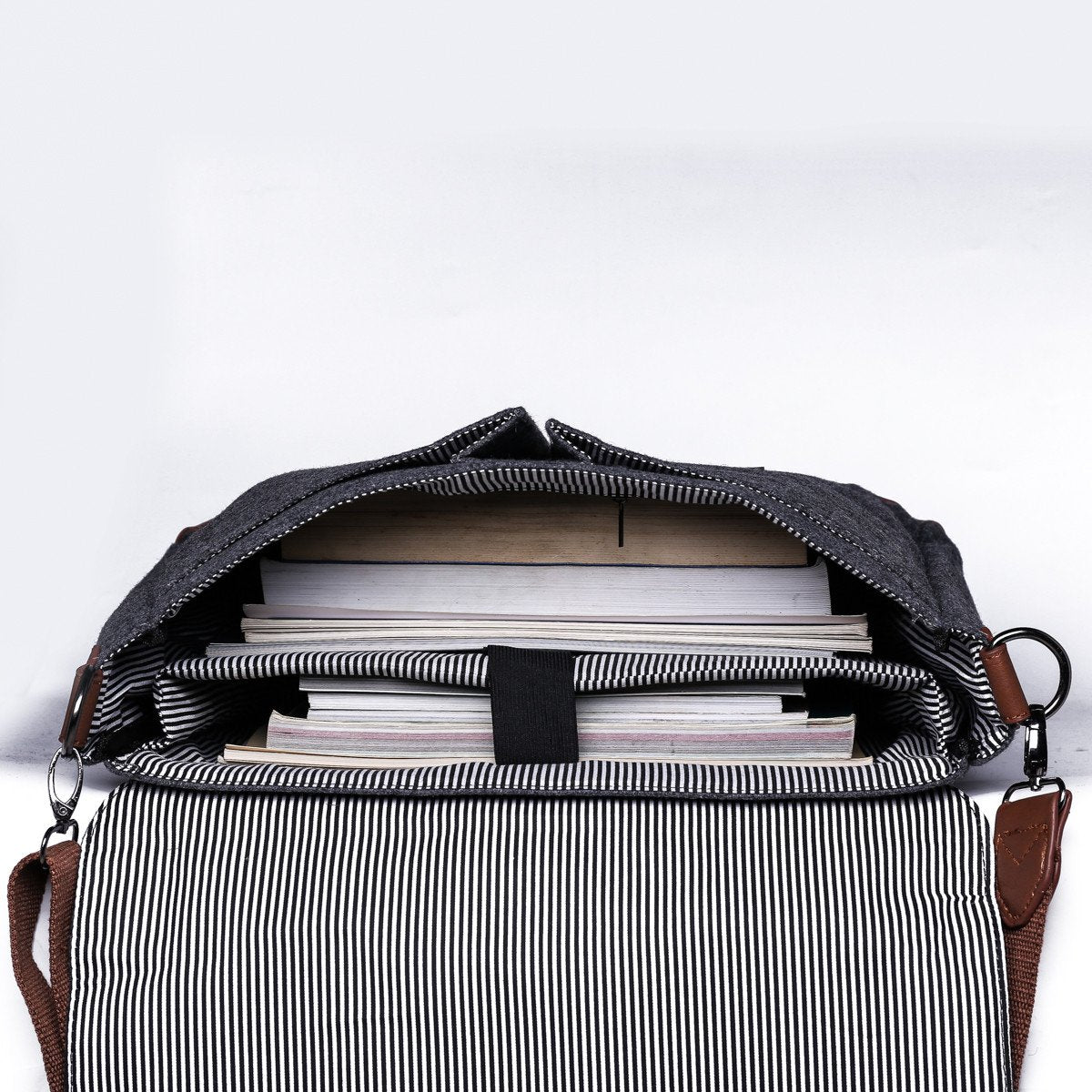 4a0e7ef91b ... Wool Messenger Bag with Padded Laptop Pouch - Stoopid Deals ...