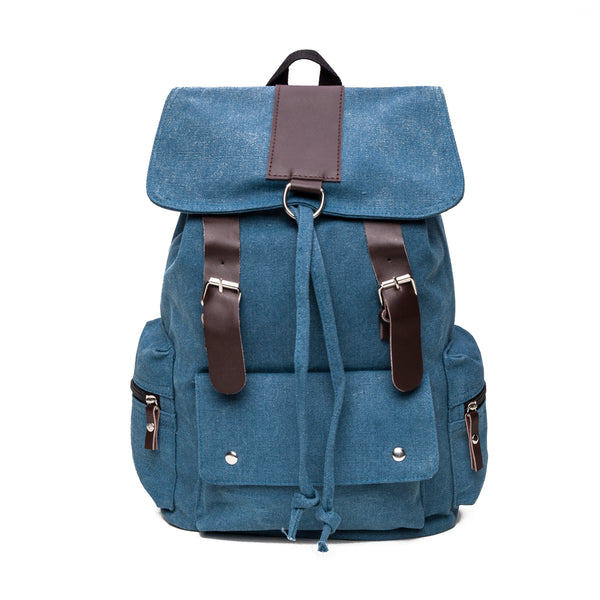 Canvas Backpack in Blue - Stoopid Deals