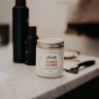 Cedar & Leather - Eleventh Candle Co