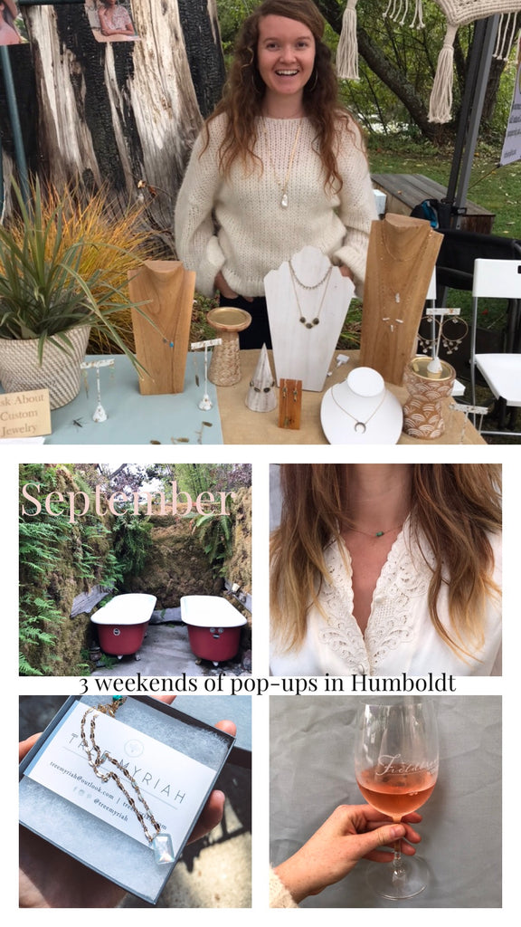 humboldt garberville fieldbrook winery art festival pop up trunk show elegant simple custom one of a kind jewelry create ca