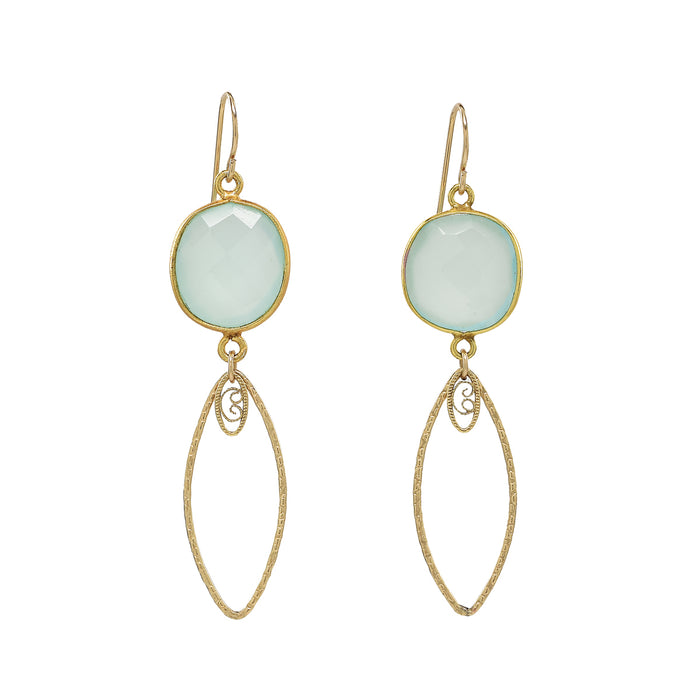 Chalcedony Mandy Earrings