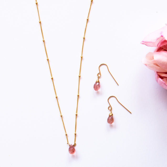 Strawberry Quartz Minimalist Set