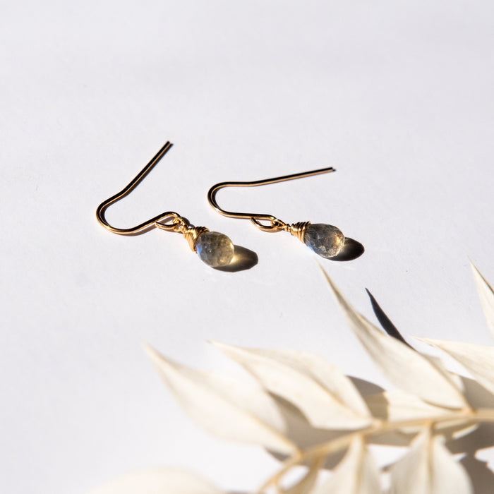 Dainty Labradorite Bree Earrings