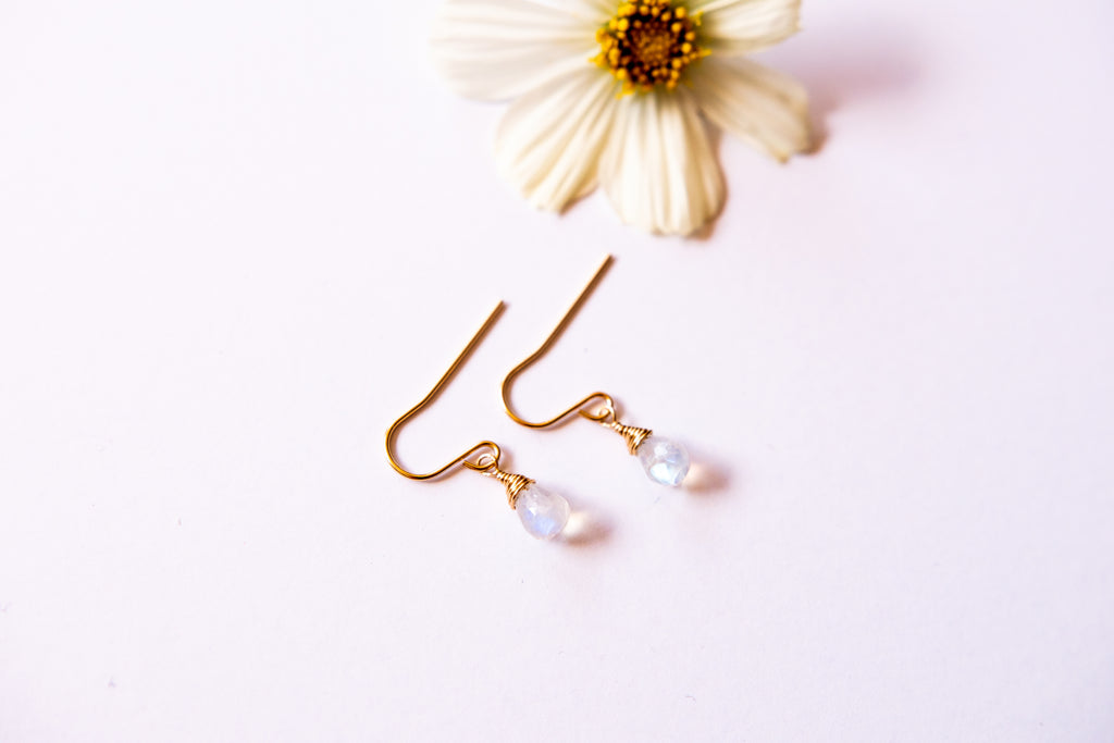 Dainty Moonstone Bree Earrings