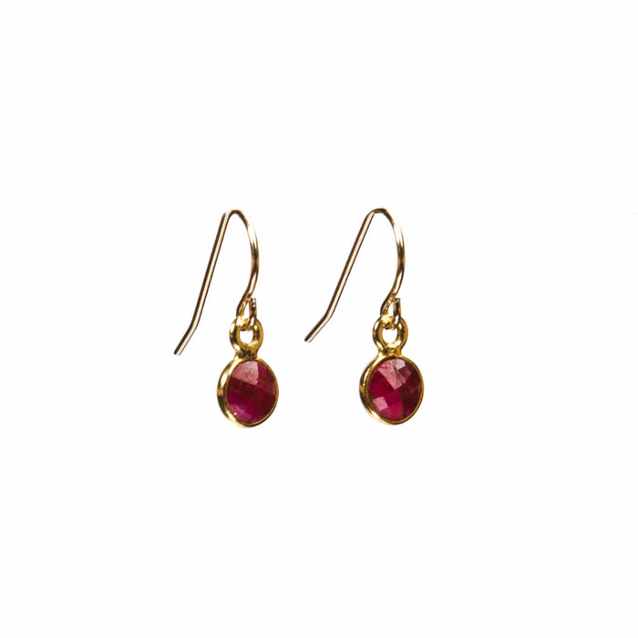 red ruby small gift earrings