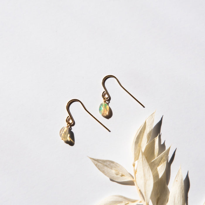 Raw Opal Earrings