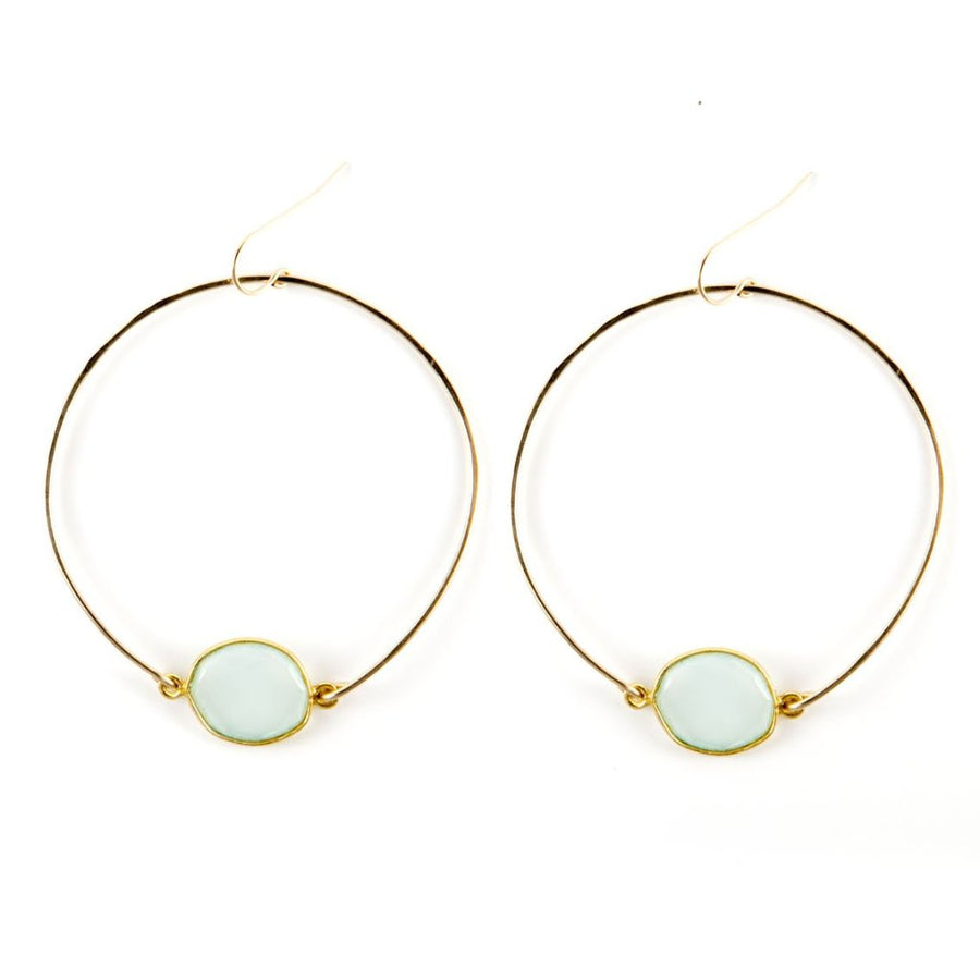 gold hoops stone natural gem gift boho travel wanderlust babe chic simple refined adventurous souls labradorite luminous gift present birthday girl boss