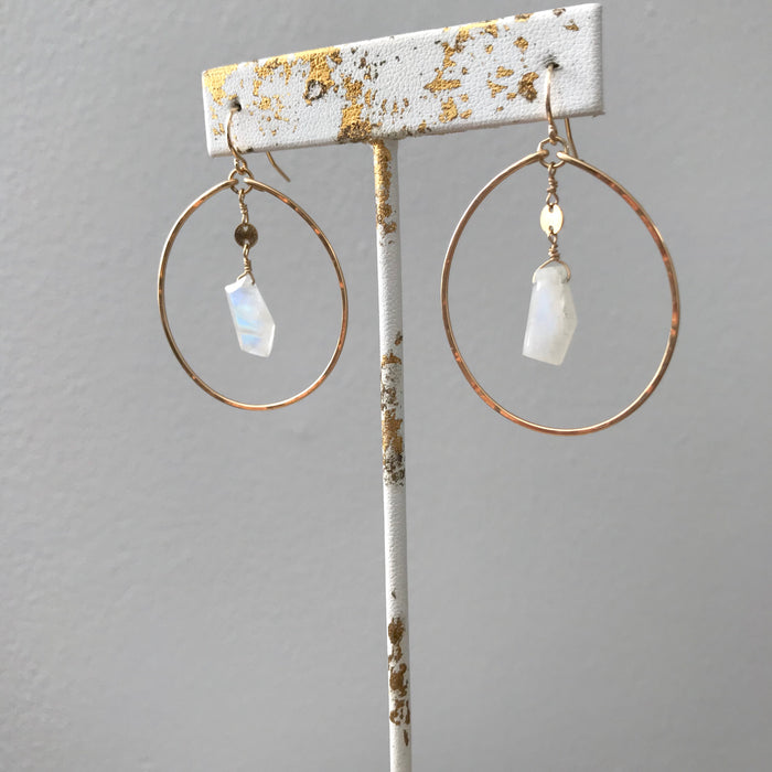 Layla Moonstone Hoops
