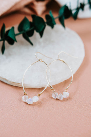 adventurous wanderlust gyspy modern boho simple jewelry modern handmade labradorite bride wedding gift holidays Christmas moonstone pearl earrings necklace tree Myriah hoops