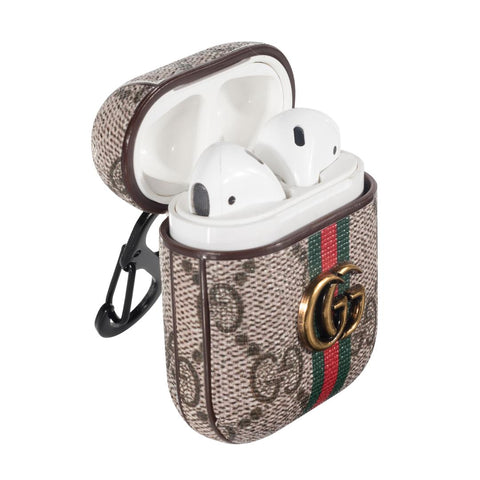 Gucci GG Stripes AirPods Leather Protective Shockproof Case