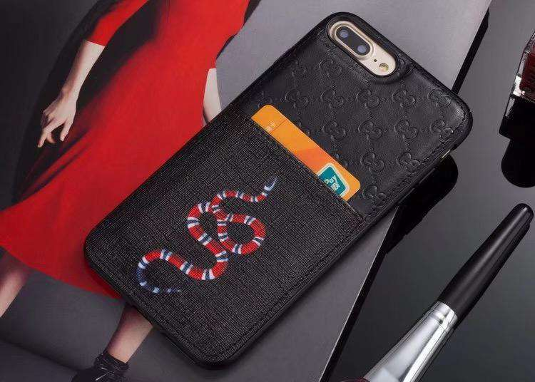 GG Snake Card Holder iPhone Case - Skiins