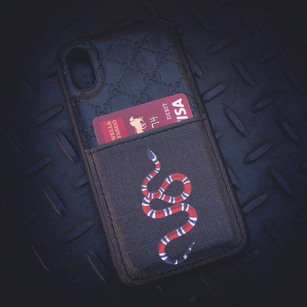 GG Snake Card Holder iPhone Case