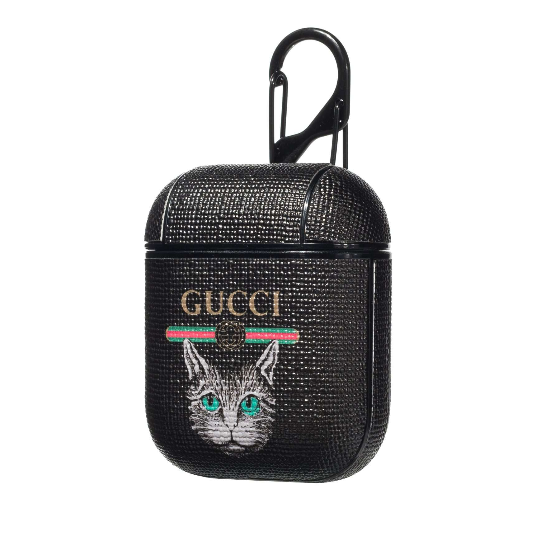 Gucci Cat AirPods Leather Protective Shockproof Case