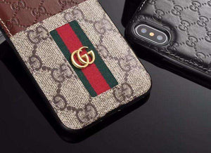 GG Stripes Pendant Card Holder iPhone Case - Skiins