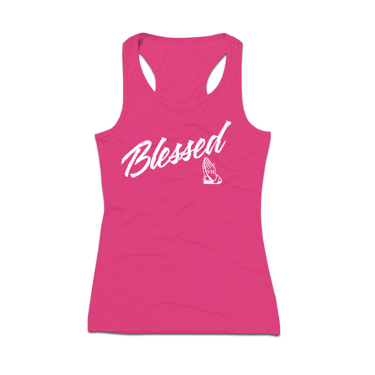 BLESSED Script Tank Top