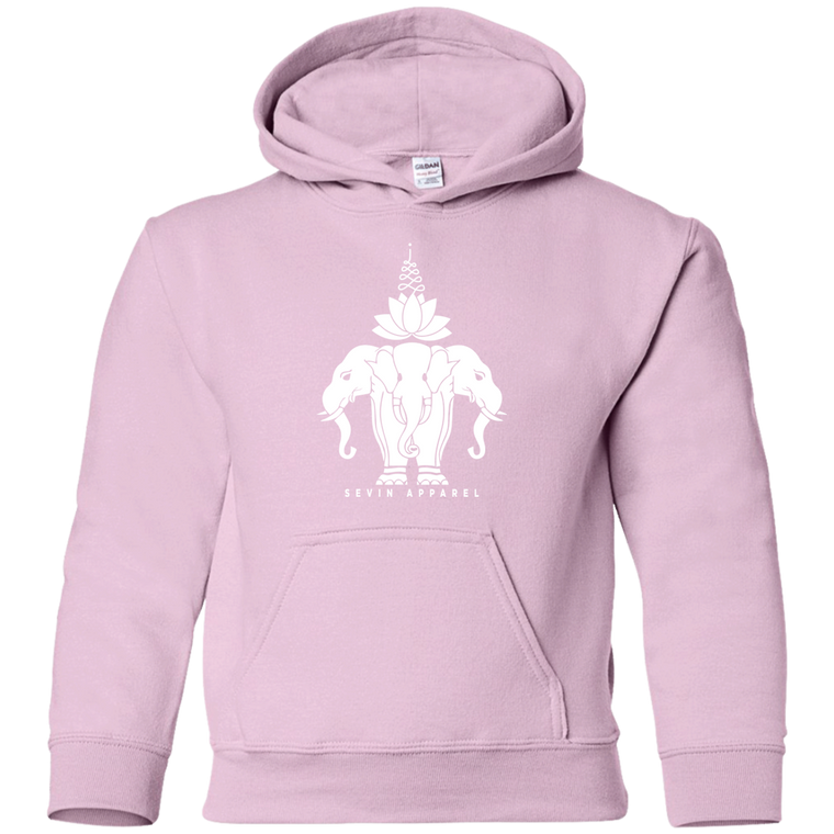 Youth Lotus Elephant Pullover Hoodie