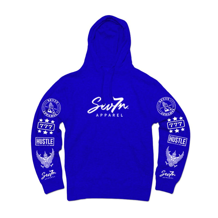 "Sevin ""Tatted up"" True Blue Hoodie"