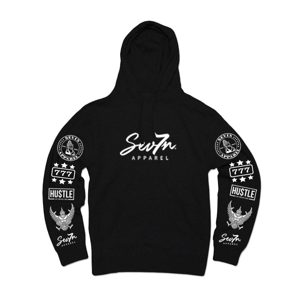 "Sevin ""Tatted up"" Black Hoodie"