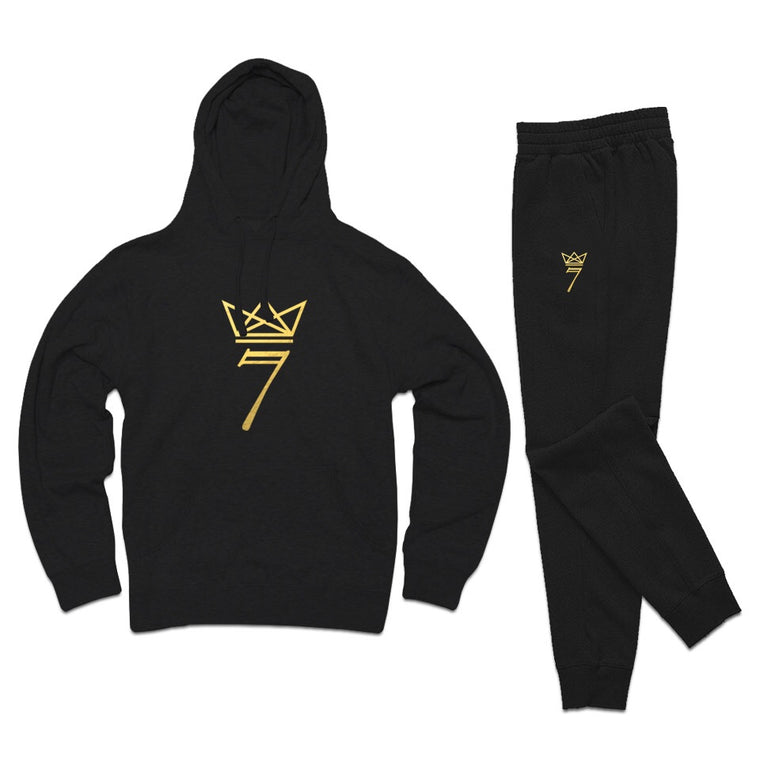 7 Gold Crown Hoodie/Jogger Set