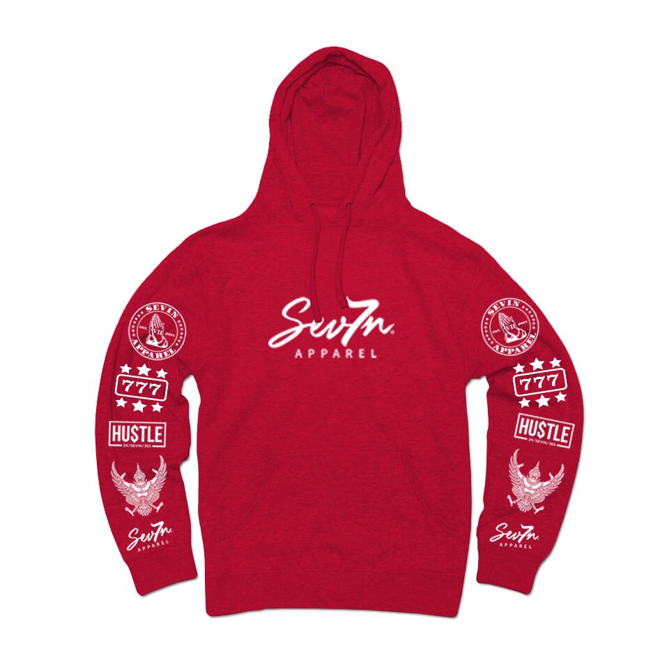 "Sevin ""Tatted up"" Fire Red Hoodie"