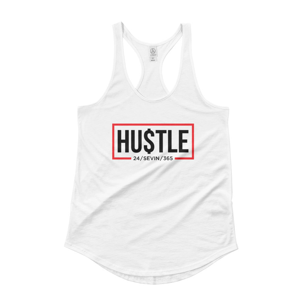 Women's Hustle 365 White Tank top