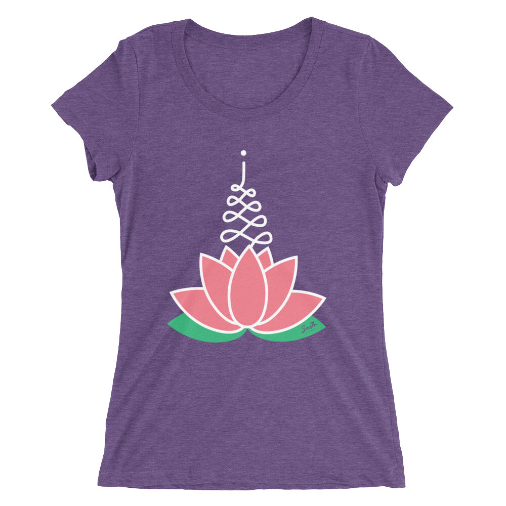 Women's Pink Lotus Tri-blend T-shirt