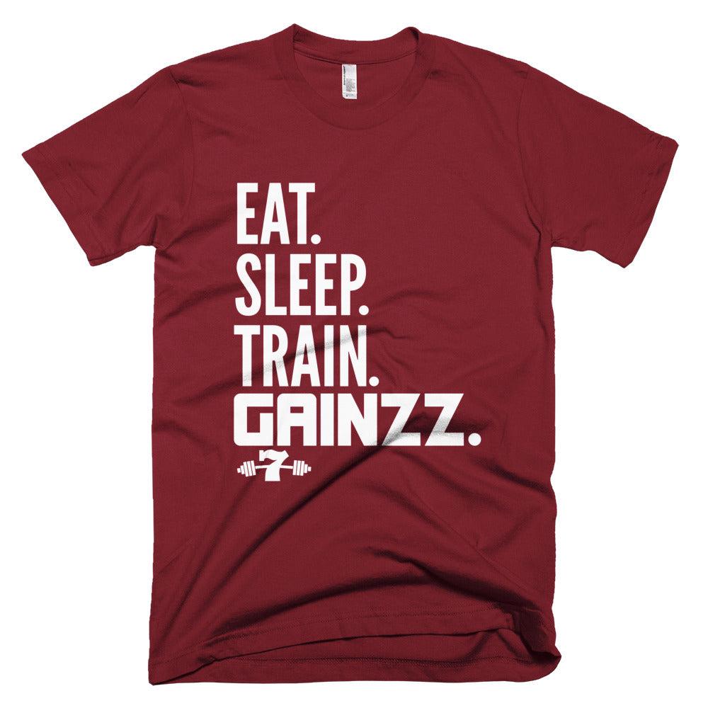 Eat, Sleep, Train, Gainzz Short-Sleeve T-Shirt