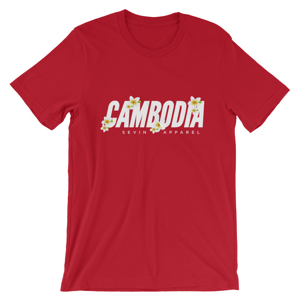 Cambodia Flower Short Sleeve Unisex T Shirt